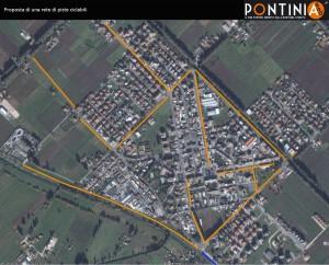 Progetto di una rete di piste ciclabili nel centro cittadino di Pontinia