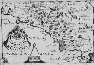 Cartografia paludi pontine - 1600 ca.