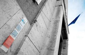 Pannello QR-CODE installato sul Comune di Pontinia