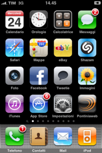 Pontiniaweb sull'iPhone