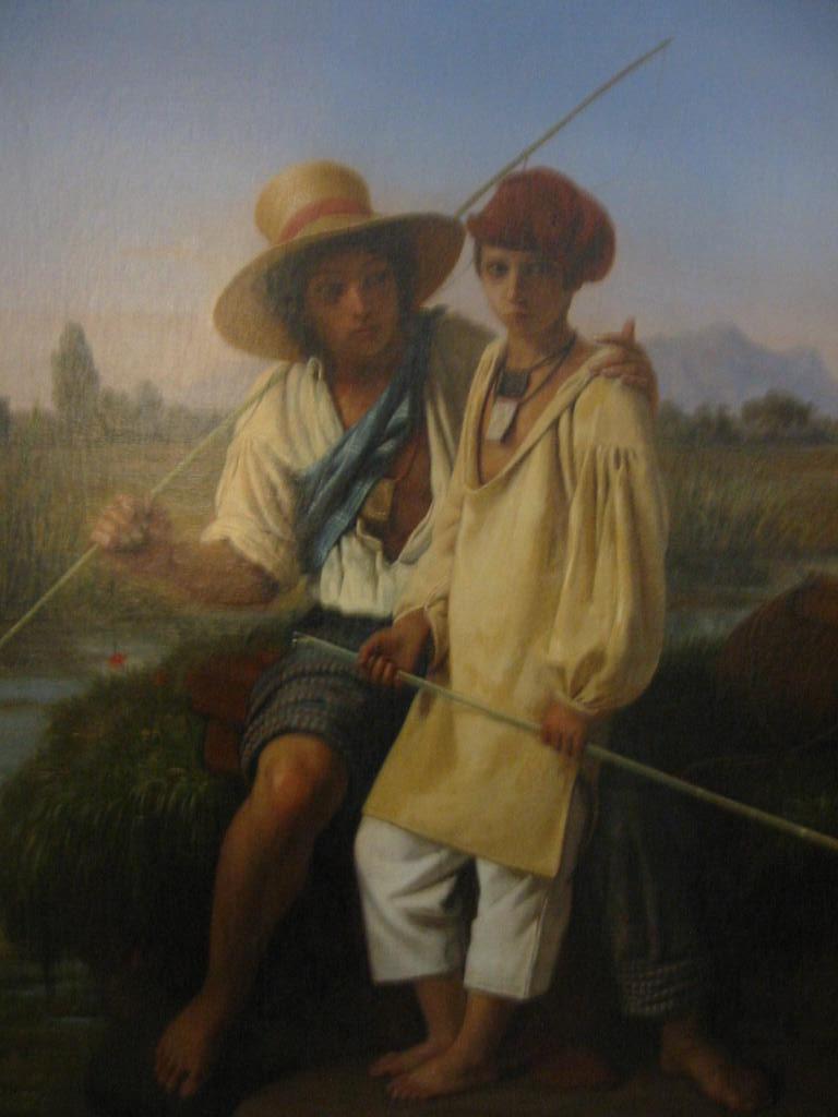 Pescatori di rane nelle paludi pontine - Robert Leopold 1827