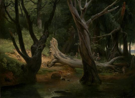 Partenza per la caccia nelle paludi pontine di Horace Vernet