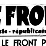 LE FRONT riferimento discorso di Pontinia - 18 Gennaio 1936