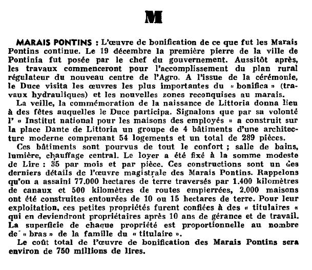 Estratto da La Revue des Vivants del 1935