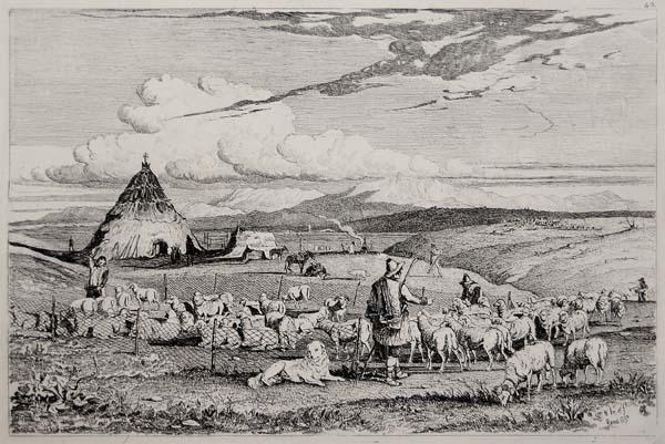 Campagna romana Charles COLEMAN (1849)