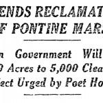 dal New York Time del 4 Ottobre 1926_ la bonifica delle Paludi Pontine