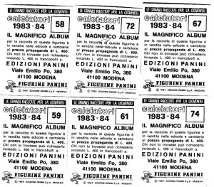 retro figurine calciatori Panini