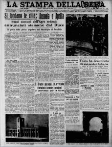 prima pagina della Stampa
