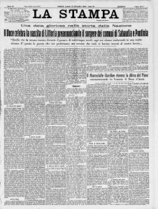 La Stampa del 19 Dicembre del 1932